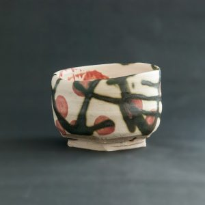 Red spotted tea bowl